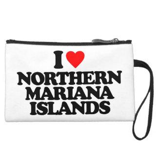 I LOVE NORTHERN MARIANA ISLANDS WRISTLET CLUTCH