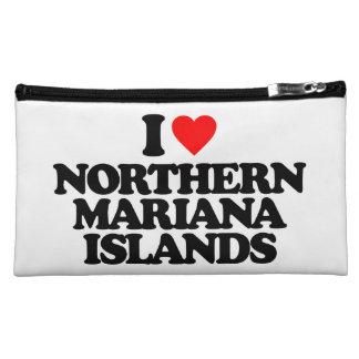 I LOVE NORTHERN MARIANA ISLANDS COSMETIC BAGS