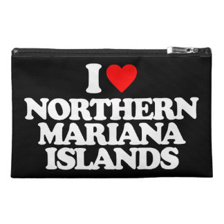 I LOVE NORTHERN MARIANA ISLANDS TRAVEL ACCESSORY BAGS
