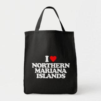 I LOVE NORTHERN MARIANA ISLANDS CANVAS BAG