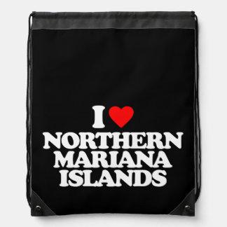 I LOVE NORTHERN MARIANA ISLANDS DRAWSTRING BACKPACK
