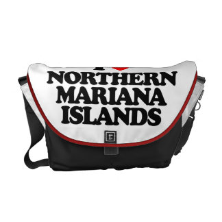 I LOVE NORTHERN MARIANA ISLANDS COURIER BAGS