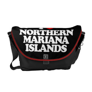 I LOVE NORTHERN MARIANA ISLANDS MESSENGER BAG