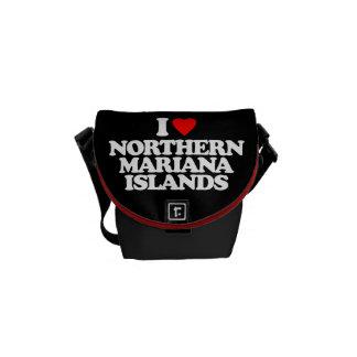 I LOVE NORTHERN MARIANA ISLANDS MESSENGER BAGS