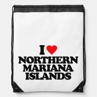 I LOVE NORTHERN MARIANA ISLANDS CINCH BAGS
