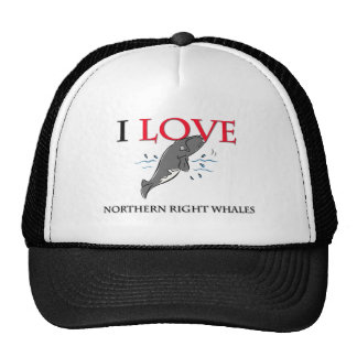 I Love Northern Right Whales Hat