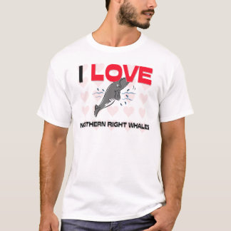 I Love Northern Right Whales T-Shirt