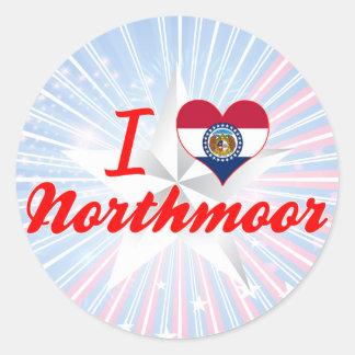 I Love Northmoor, Missouri Round Sticker