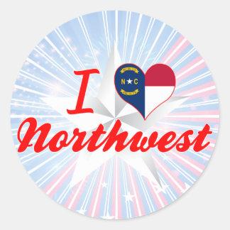 I Love Northwest, North Carolina Stickers