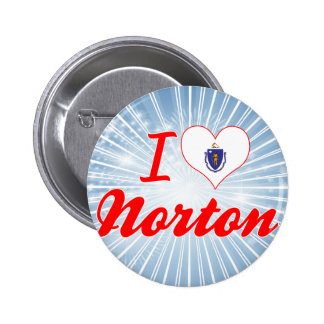 I Love Norton, Massachusetts 6 Cm Round Badge
