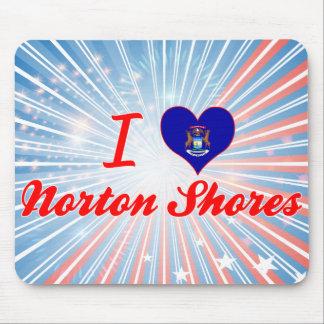 I Love Norton Shores, Michigan Mouse Pads