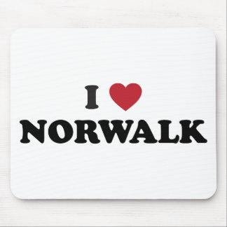 I Love Norwalkd California Mouse Pad