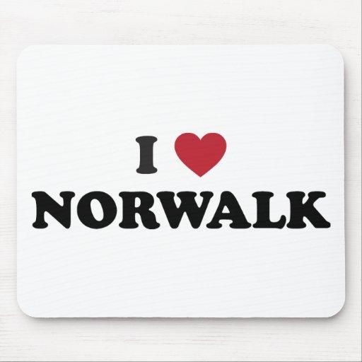 I Love Norwalkd California Mousepads