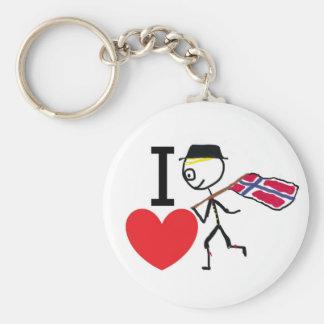 I Love Norway 2 Key Ring
