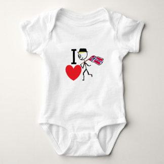 I Love Norway Baby Bodysuit