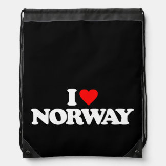 I LOVE NORWAY DRAWSTRING BAG
