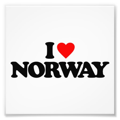 I LOVE NORWAY PHOTOGRAPH