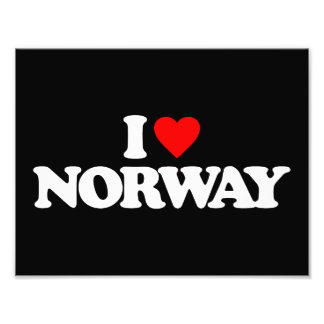 I LOVE NORWAY PHOTO ART