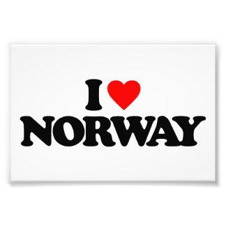 I LOVE NORWAY PHOTO PRINT