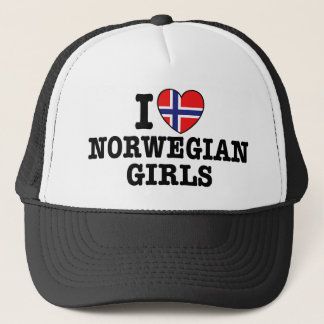 I Love Norwegian Girls Trucker Hat