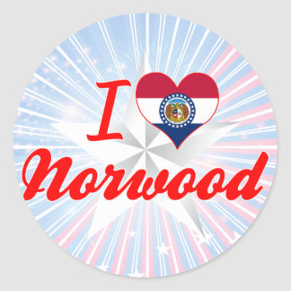 I Love Norwood, Missouri Sticker
