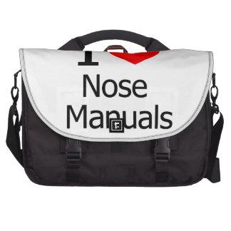 I Love Nose Manuals Laptop Messenger Bag