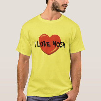 I LOVE NOSH YIDDiSH  EATING T SHIRT