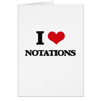 I Love Notations Greeting Card