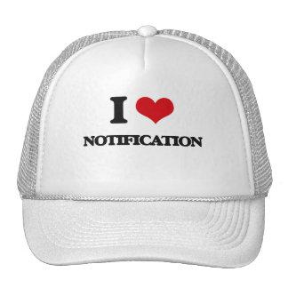 I Love Notification Mesh Hat