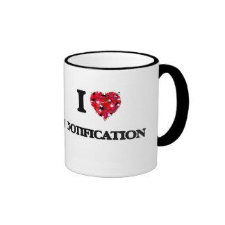 I Love Notification Ringer Mug