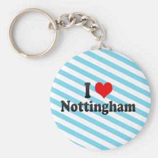I Love Nottingham, United Kingdom Basic Round Button Key Ring