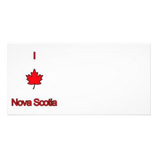 I Love Nova Scotia Custom Photo Card