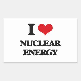 I Love Nuclear Energy Rectangular Sticker