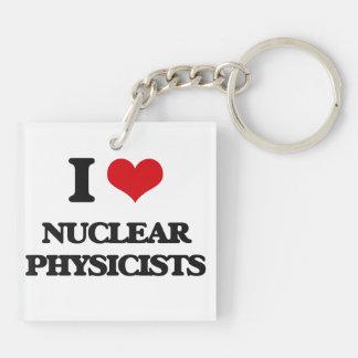 I love Nuclear Physicists Acrylic Keychain