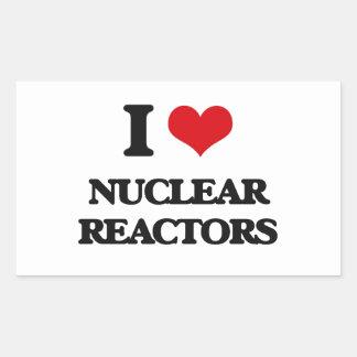 I Love Nuclear Reactors Rectangular Sticker