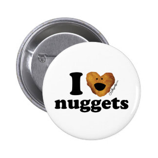 I love nuggets 6 cm round badge