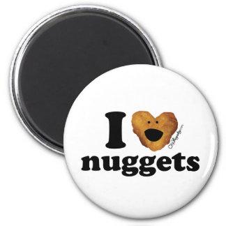 I love nuggets 6 cm round magnet