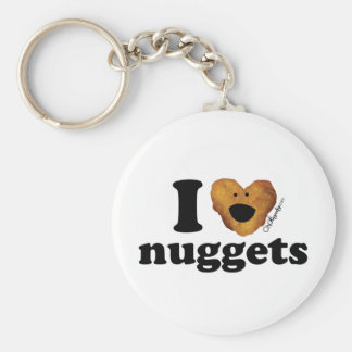 I love nuggets basic round button key ring