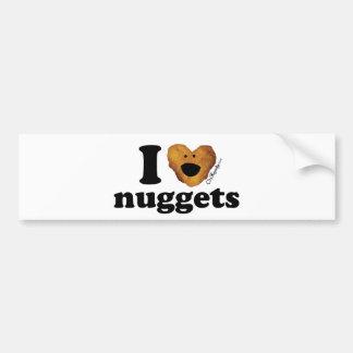 I love nuggets car bumper sticker