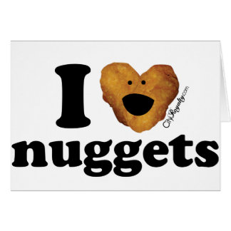 I love nuggets greeting card
