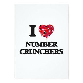 I Love Number Crunchers 13 Cm X 18 Cm Invitation Card