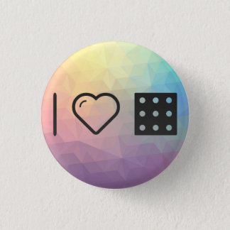 I Love Number Nines 3 Cm Round Badge