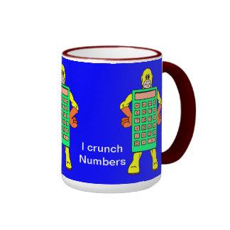 I love numbers ringer mug