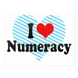 I Love Numeracy Postcard