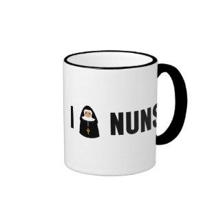 I Love Nuns Ringer Mug