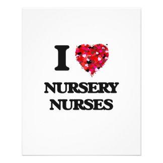 """I love Nursery Nurses 4.5"""" X 5.6"""" Flyer"""