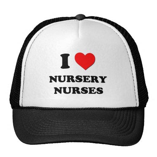 I Love Nursery Nurses Hats