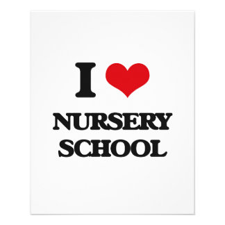 I Love Nursery School 11.5 Cm X 14 Cm Flyer