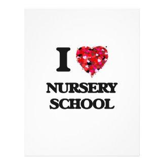 I Love Nursery School 21.5 Cm X 28 Cm Flyer