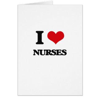 I love Nurses Card